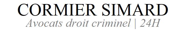 Cormier Simard | Avocat droit criminel | 24H
